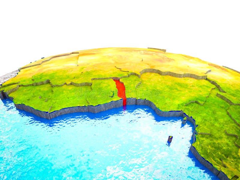 Togo en la tierra 3D stock de ilustración