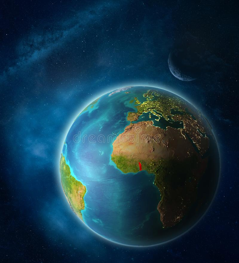 Togo en la tierra del espacio ilustración del vector