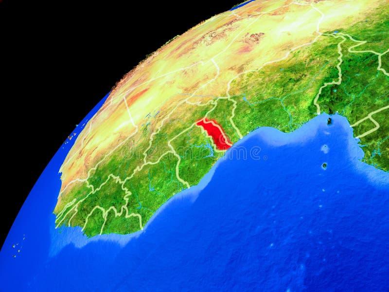 Togo en la tierra del espacio libre illustration