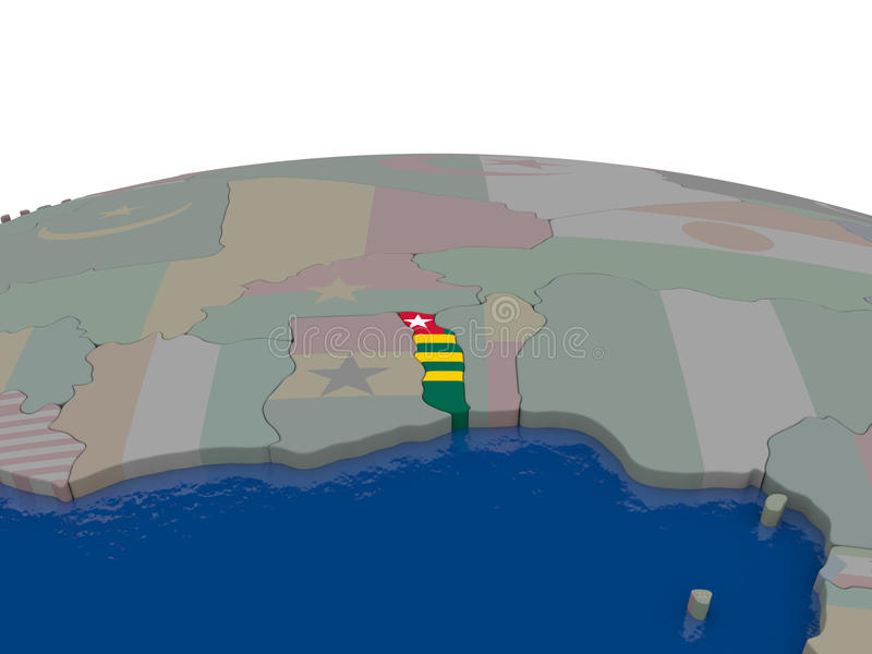 Download Togo With Flag Stock Illustration - Image: 83717869