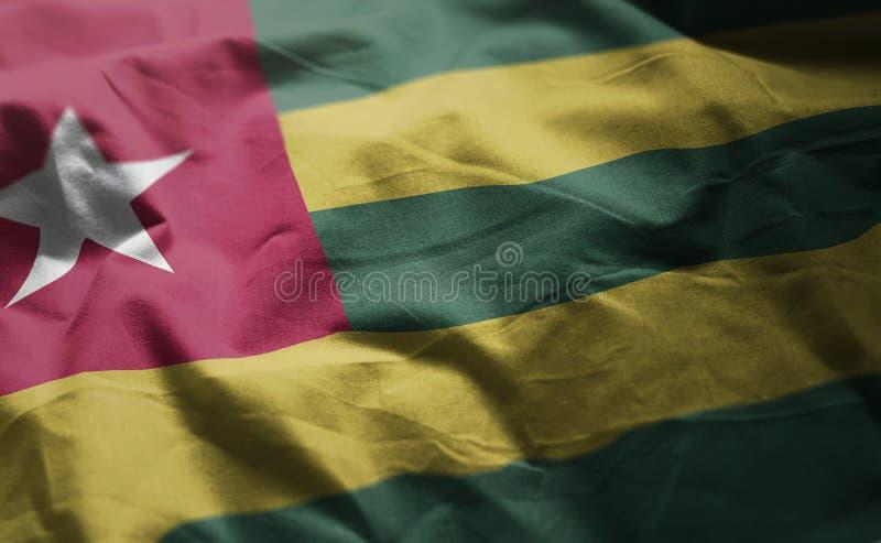 Togo Flag Rumpled Close Up fotografía de archivo