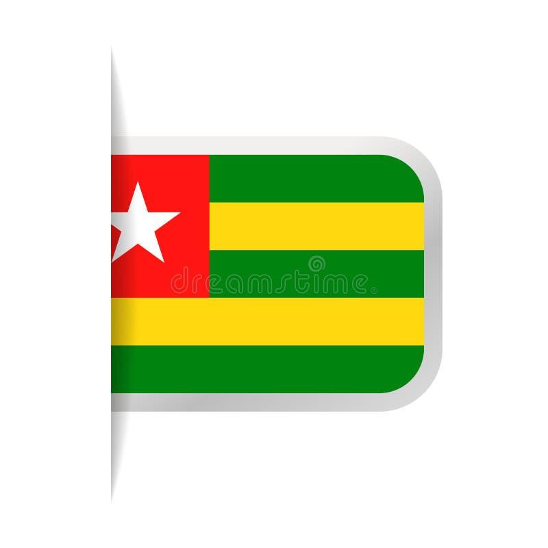 Togo Flag Vector Bookmark Icon ilustración del vector