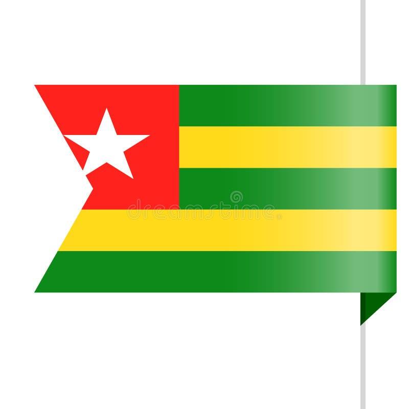Togo Flag Vector Bookmark Icon libre illustration