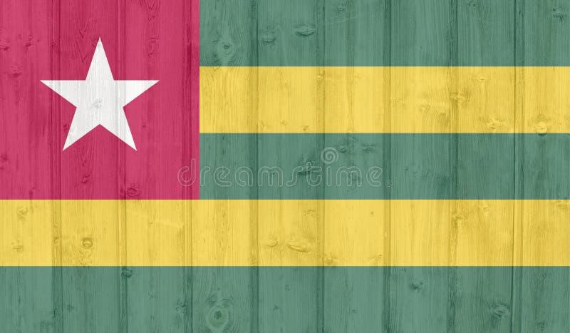 Togo flaga ilustracji