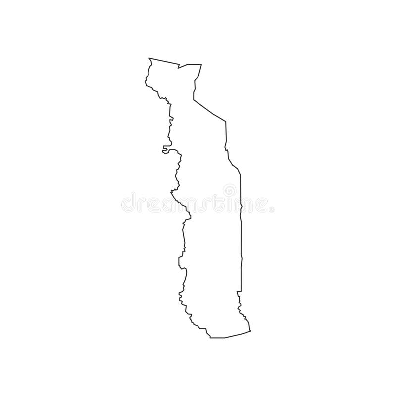 Togo Map Silhouette Stock Vector Image Of Background - Togo map outline