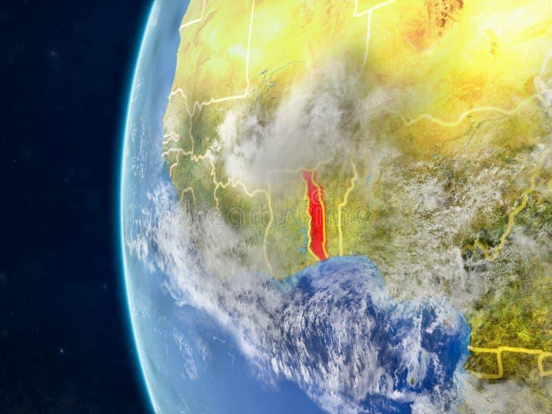 Togo op bol van ruimte royalty-vrije illustratie