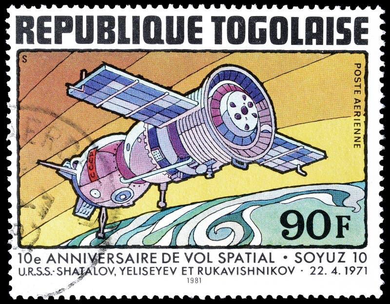 Togo op postzegels royalty-vrije stock foto's