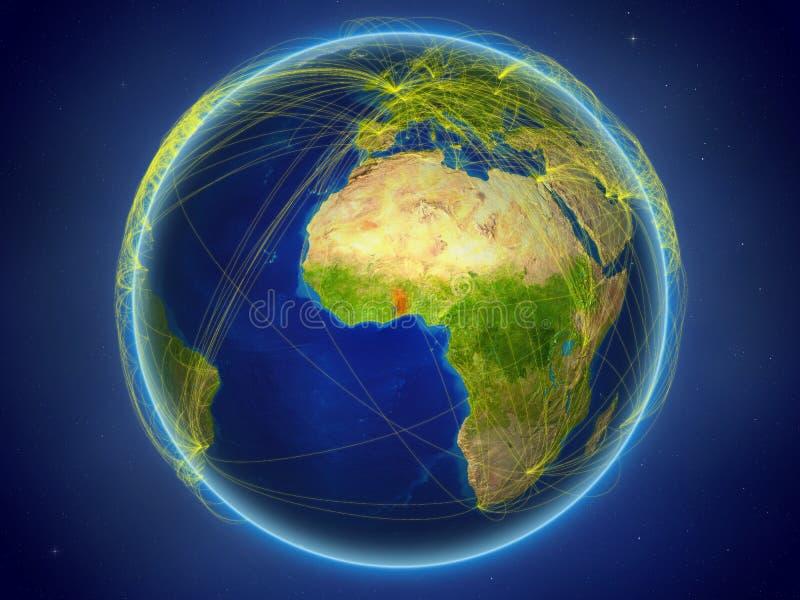 Togo på jord med nätverk arkivfoton