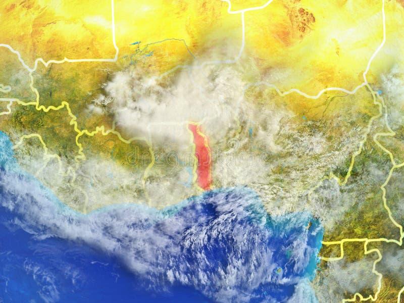 Togo ter wereld van ruimte vector illustratie