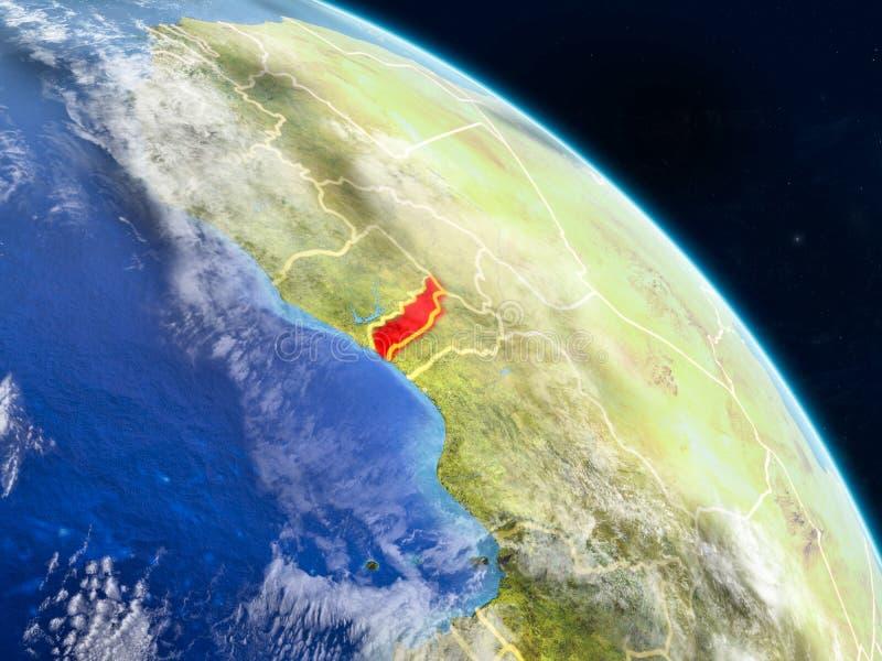 Togo van ruimte royalty-vrije illustratie