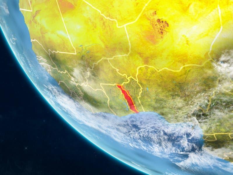 Togo van ruimte ter wereld vector illustratie