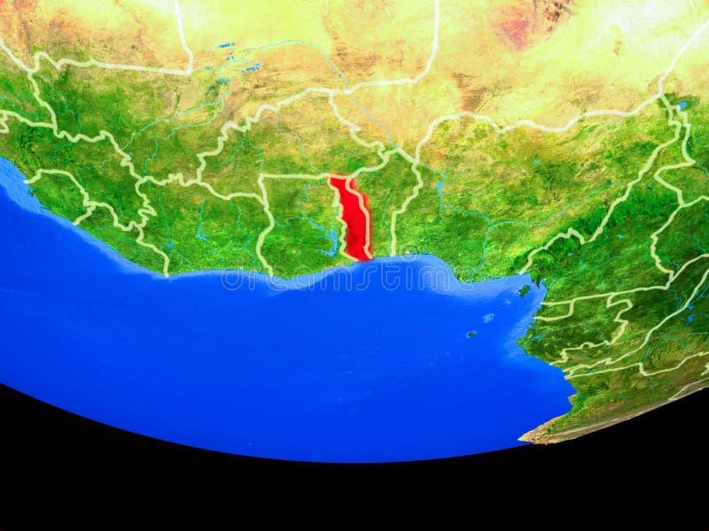 Togo van ruimte ter wereld royalty-vrije illustratie