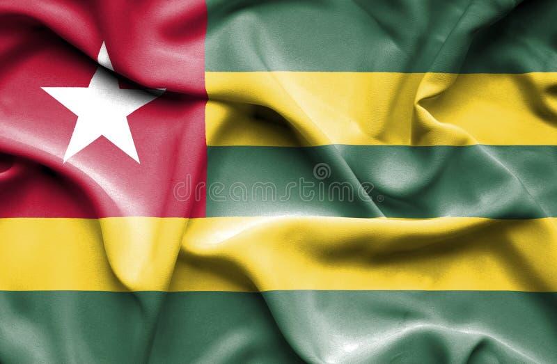 Togo vinkande flagga royaltyfri illustrationer