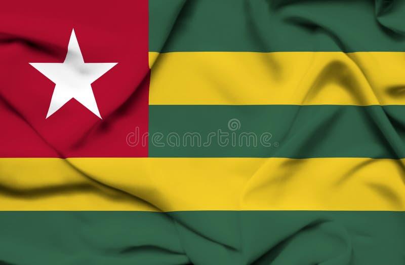 Togo vinkande flagga vektor illustrationer