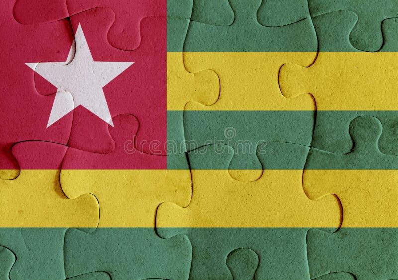 Togoisches Republikflaggenpuzzlespiel stock abbildung
