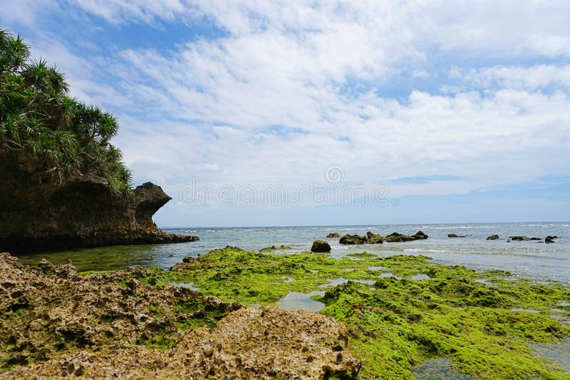 Toguchi海滩 图库摄影