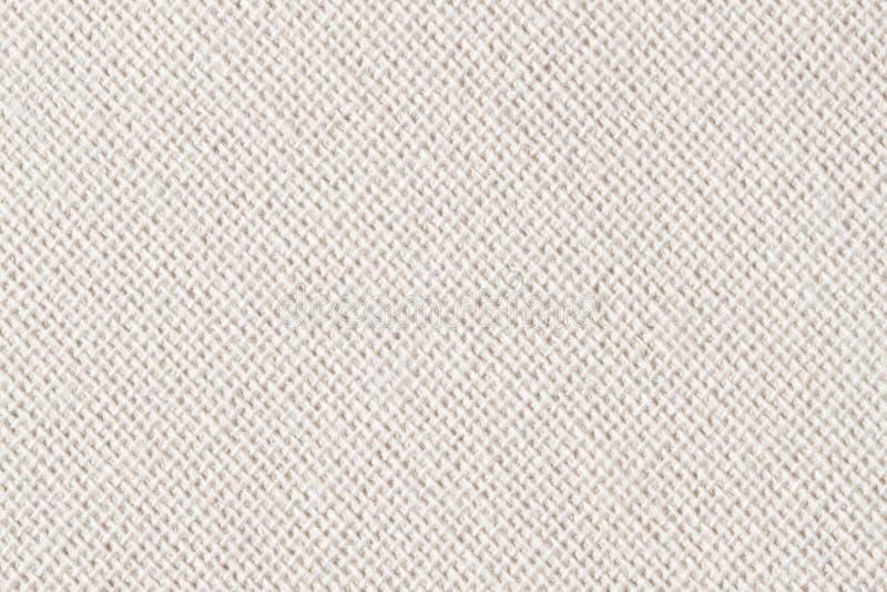 Toile à sac, toile, tissu, jute, modèle de texture pour le fond Couleur douce crème Grande diagonale image stock