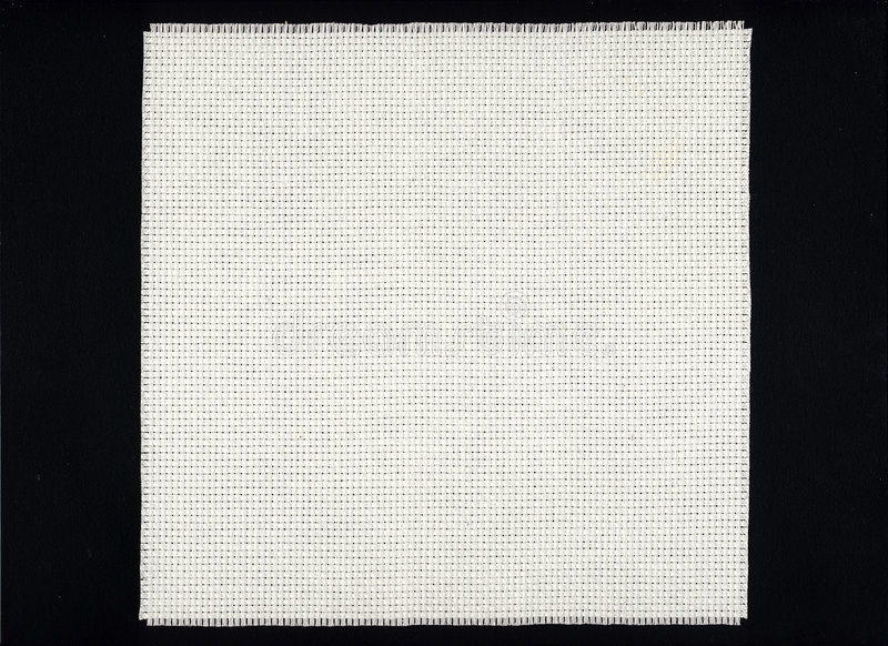 Toile blanche de tissu d'Aida   photos libres de droits