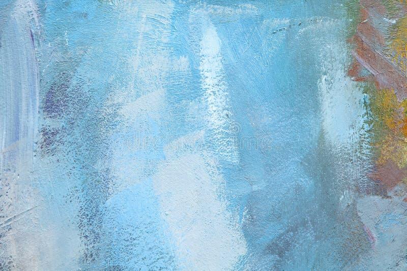 Toile colorée avec des peintures à l'huile photos stock