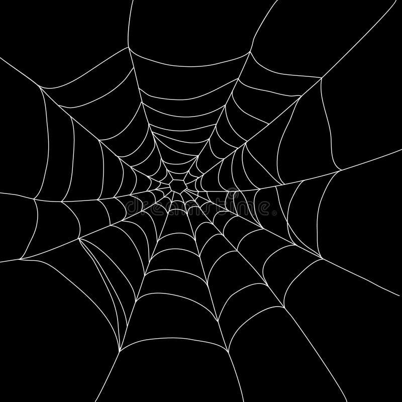 Toile d'araignée d'isolement illustration libre de droits