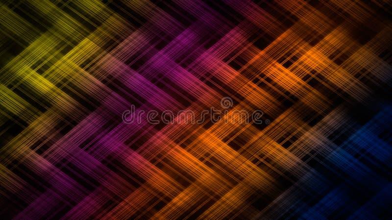 Toile de jute colorée sur un fond noir illustration libre de droits