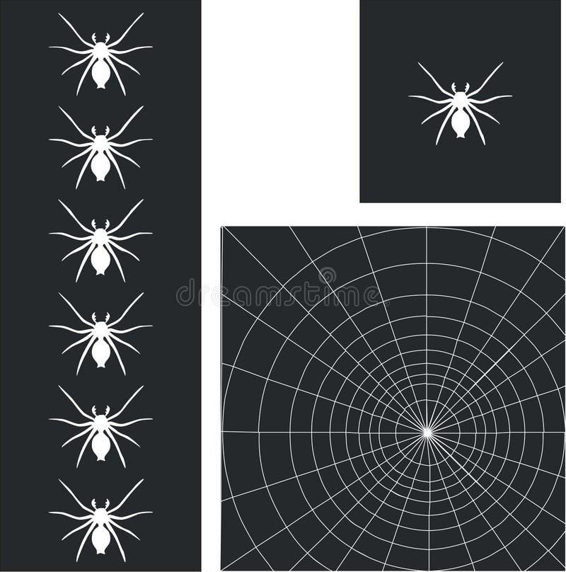 toile de l'araignée 01 illustration stock