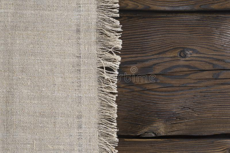 Toile et conseils en bois photo stock