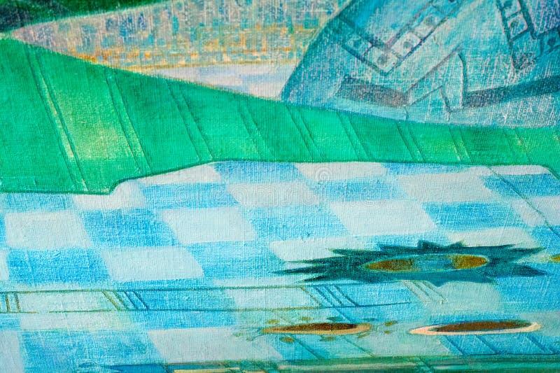 Toile, huile La peinture peinte par la peinture de The d'artiste est calorie image libre de droits