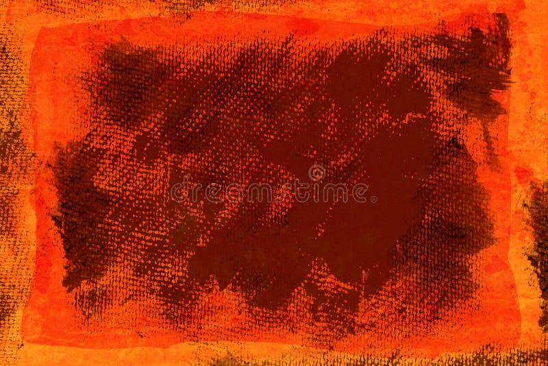 Toile orange grunge illustration libre de droits