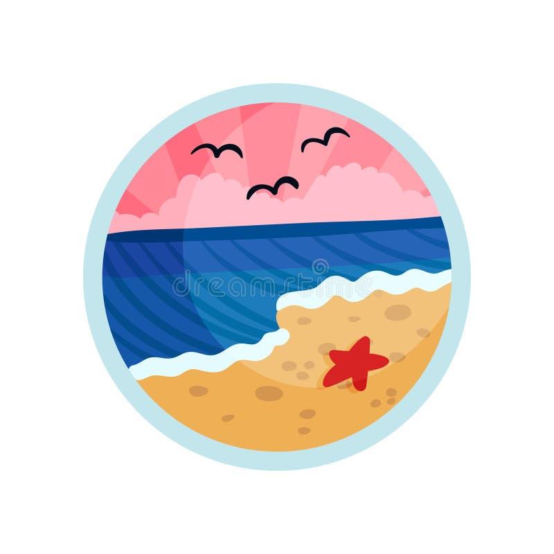 ?toiles de mer sur la plage Illustration de vecteur sur le fond blanc illustration de vecteur