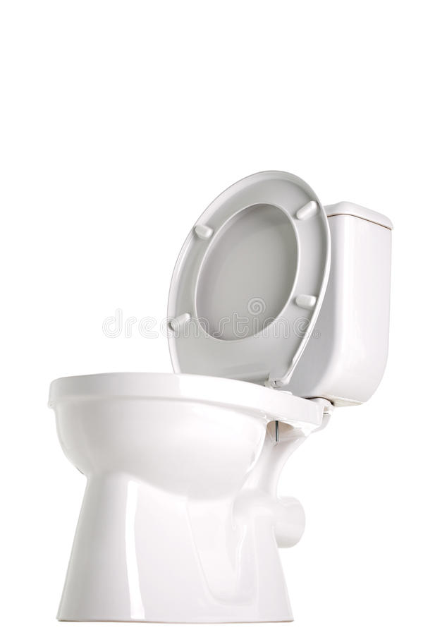 Toilet. Closed toilet, side view, isolated on white royalty free stock images