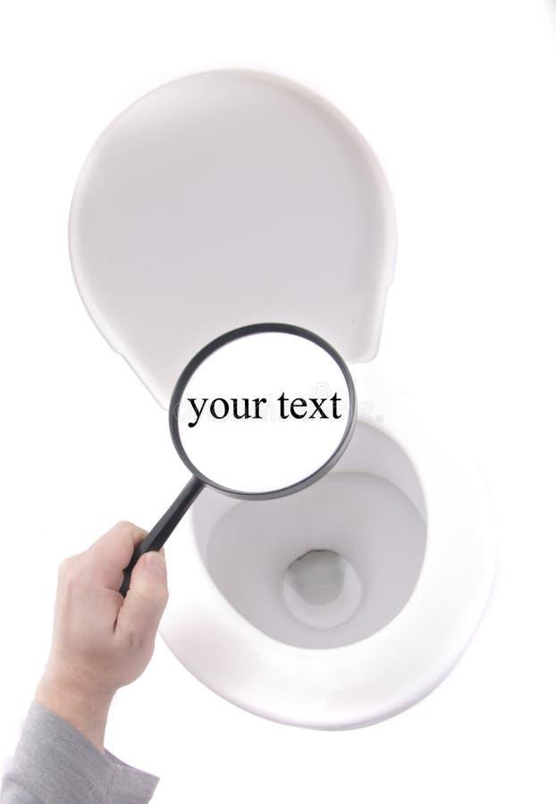 Toilet. Old toilet isolated on the white background stock photos