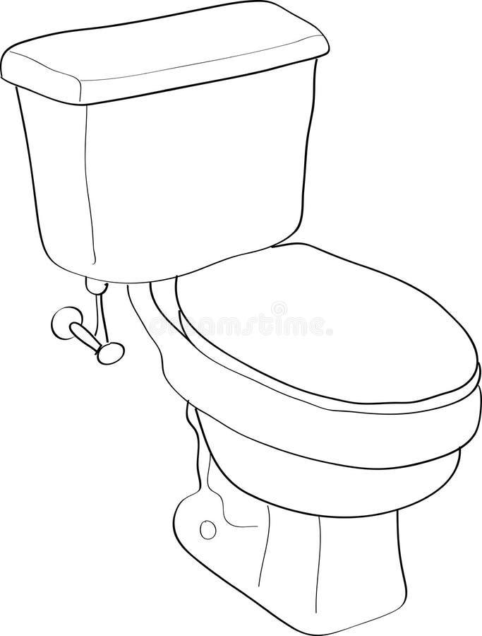 Toilet royalty-vrije illustratie