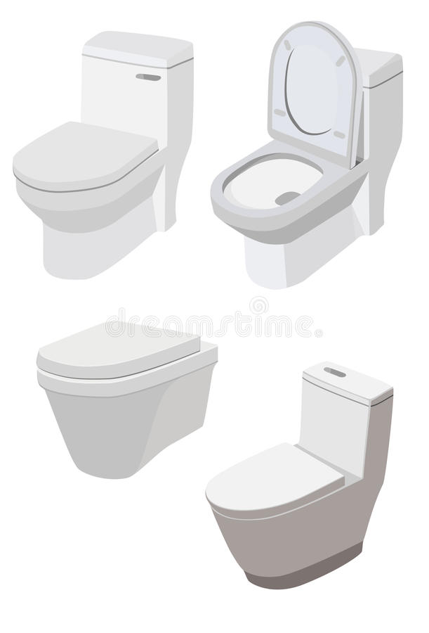 Download Toilet stock vector. Image of concept, closet, home, domestic - 26787743