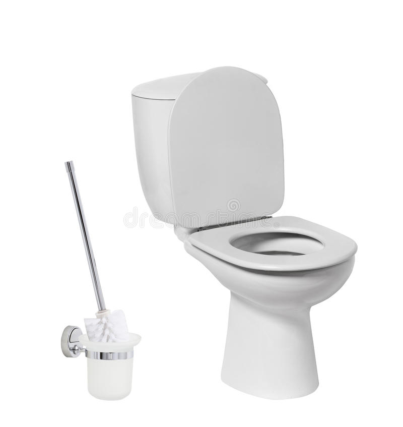 Toilet bow. With toilet brush royalty free stock images