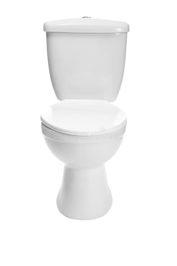 Toilet bowl. Photo on the white background stock images