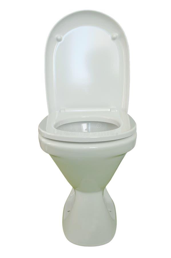 Toilet bowl. Photo on the white background royalty free stock photos