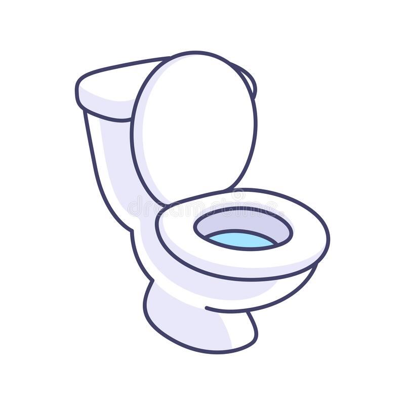 toilet bowl cartoon drawing stock vector - illustration of fixture,  drawing: 174225267  dreamstime.com