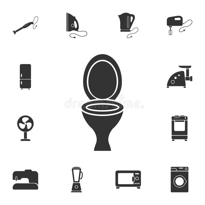 Toilet bowl icon. Simple element illustration. Toilet bowl symbol design from Home Furniture collection set. Can be used for web a. Nd mobile on white background vector illustration