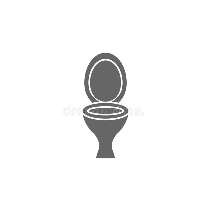 Toilet bowl icon. Simple element illustration. Toilet bowl symbol design template. Can be used for web and mobile. On white background stock illustration