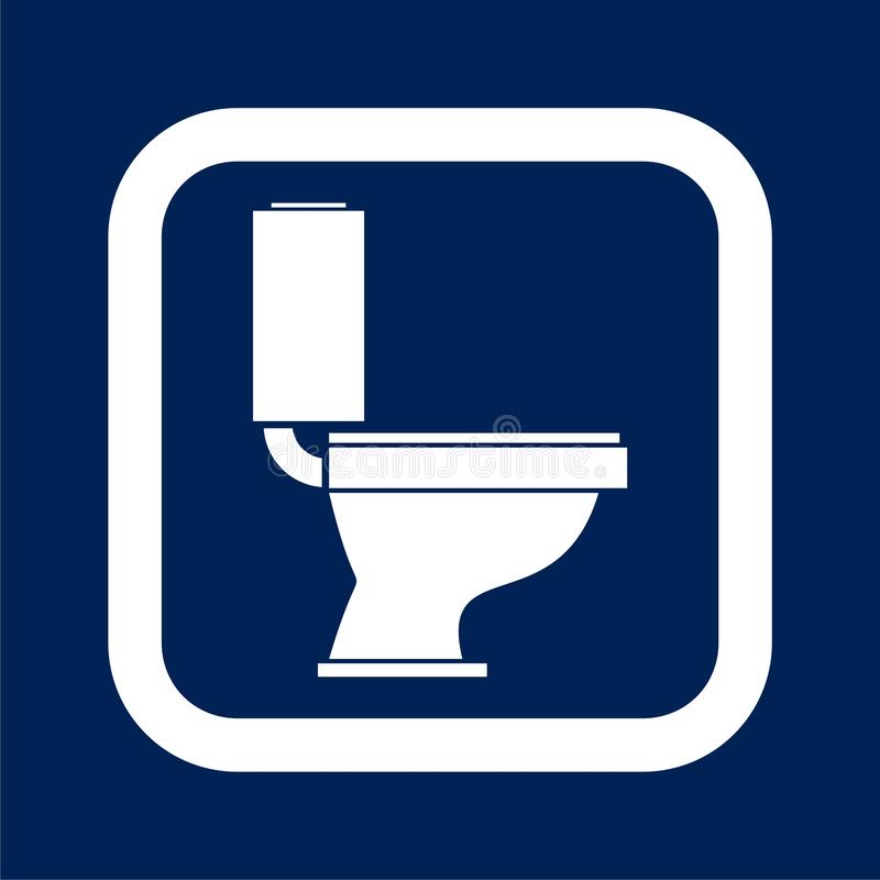 Toilet bowl illustration. Vector icon royalty free illustration