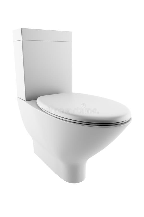 Toilet Bowl Isolated On White Background Stock Photography