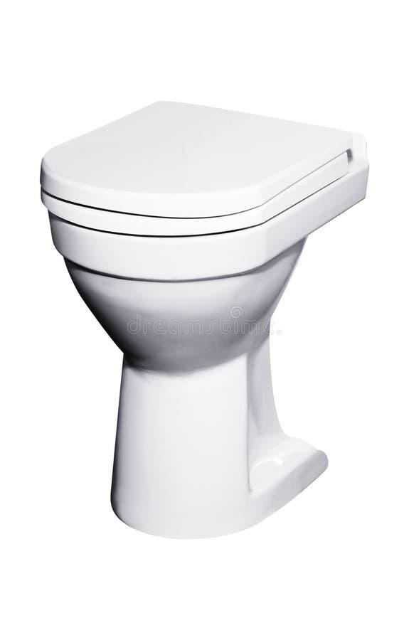 Toilet bowl isolated on white. Background royalty free stock photo