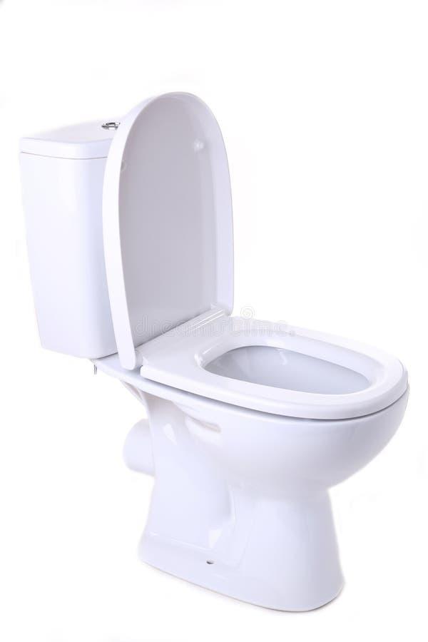 Toilet bowl isolated on white background. Toilet bowl isolated on a white background royalty free stock photo