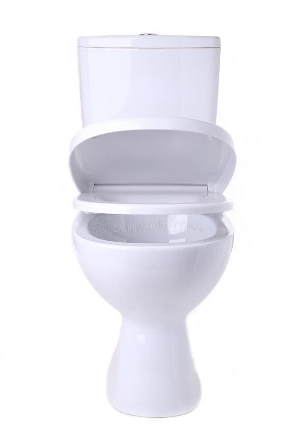 Toilet bowl isolated on white backgroun. Toilet bowl isolated on a white background royalty free stock photography