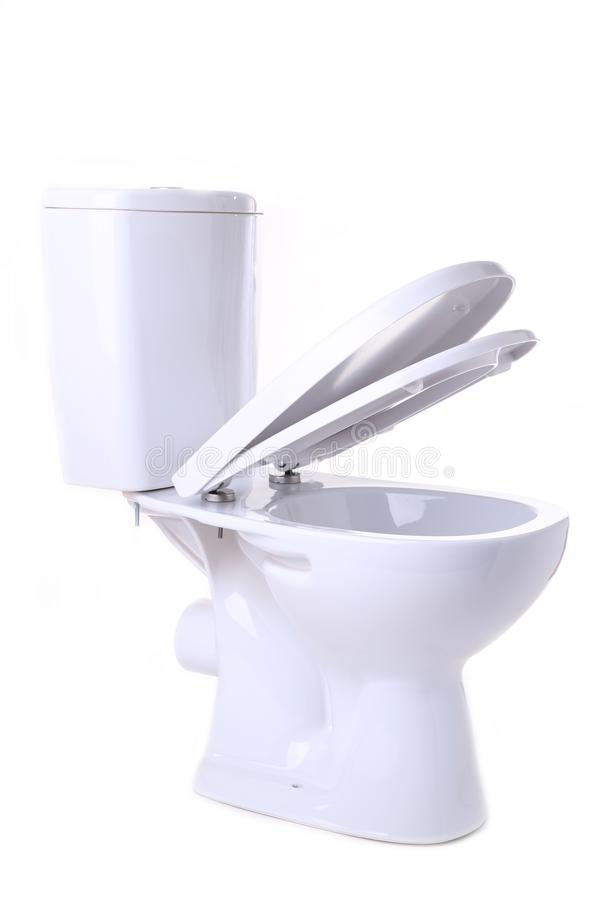 Toilet bowl isolated on a white background. Toilet bowl isolated on white background royalty free stock photography