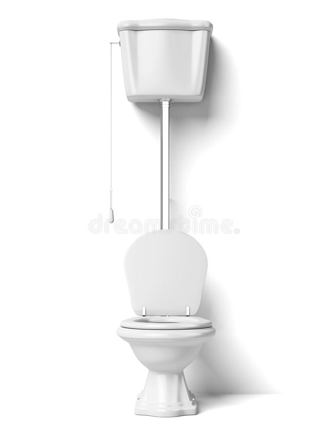 Toilet bowl. Isolated on a white background royalty free illustration
