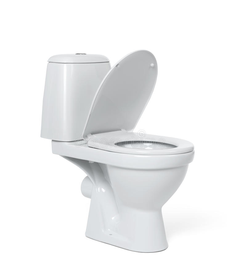 Toilet bowl isolated on white background. File contains a path to isolation. Toilet bowl isolated on white background. File contains a path to isolation stock photography
