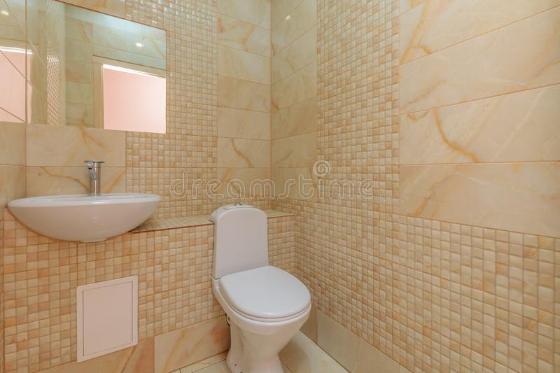 Restroom with toilet stock photos