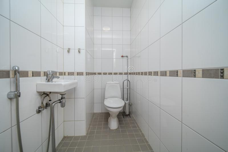 Restroom with toilet stock photo